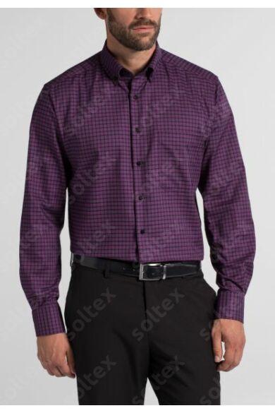 Kockás ing legombolható gallérral