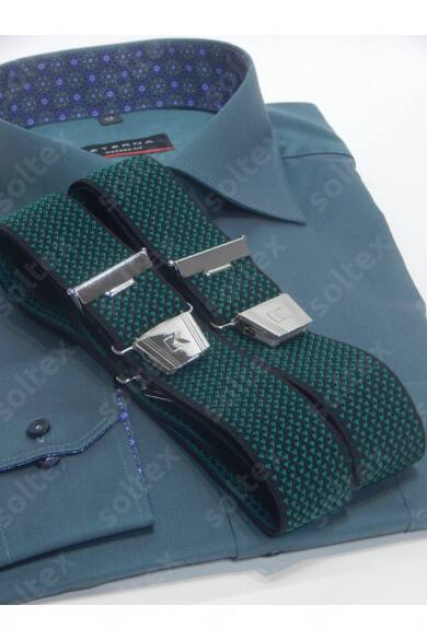35 mm széles zöld aprómintás nadrágtartó