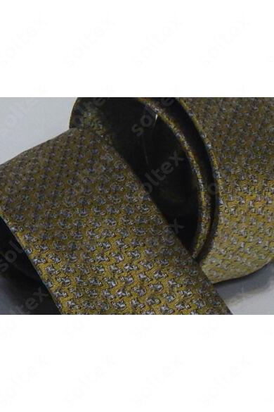 Aranyszínű, mintás selyem nyakkendő
