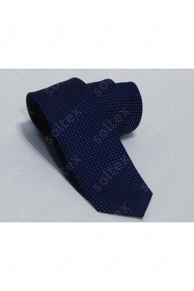 Kék színű,fehér pettyes nyakkendő