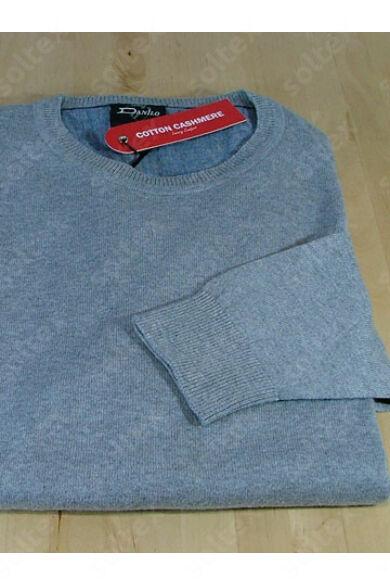 Kereknyakú pamut pulóver világosszürke
