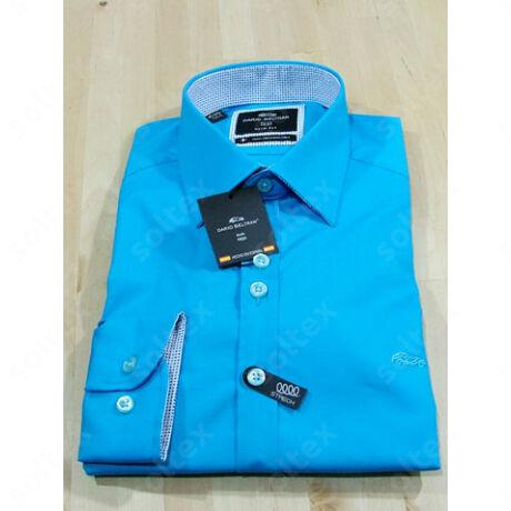 Türkizkék színű slim fit ing