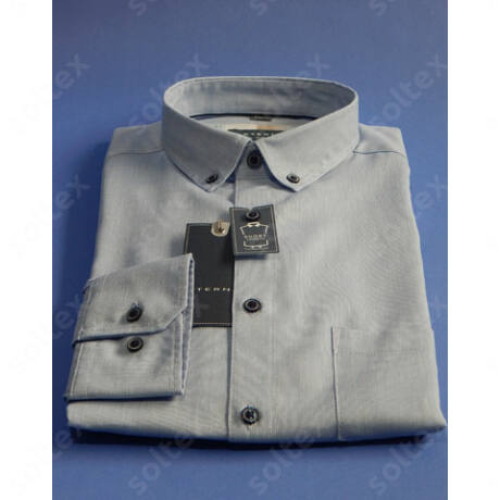 len pamut világoskék ing