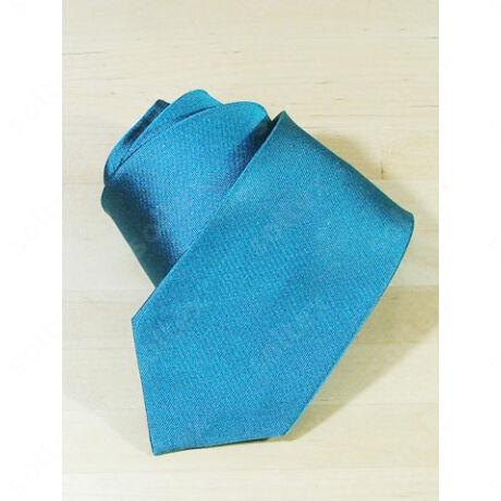 Egyszínű selyem nyakkendő petrolkék színű