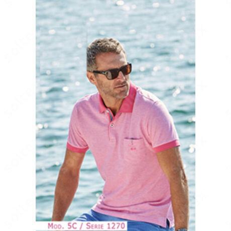 rózsaszínű galléros polo