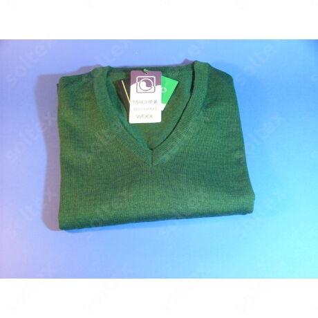 Zöld V nyakú Armas  pulóver