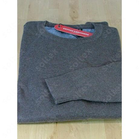 Kereknyakú pamut pulóver mogyoró