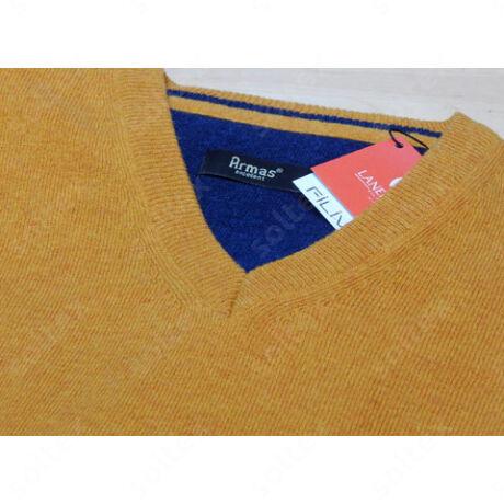 sárga v nyakú pulóver
