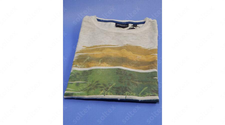 e237ca869a kereknyakú vékony pamut póló - Rövidujjú pólók - Férfi divat ...